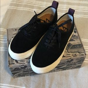 Eytys Mother Sneaker, Black Suede